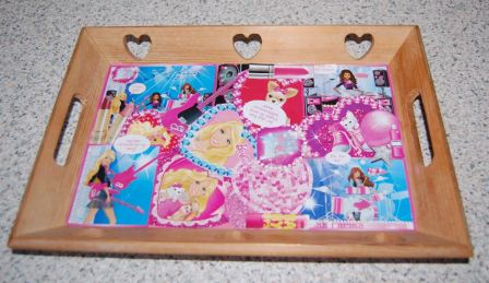 Bakke med decoupage Top model