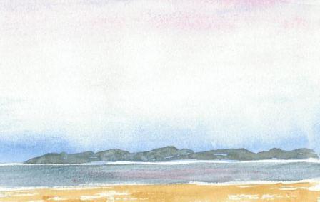 Himmel og hav lav horisontlinje