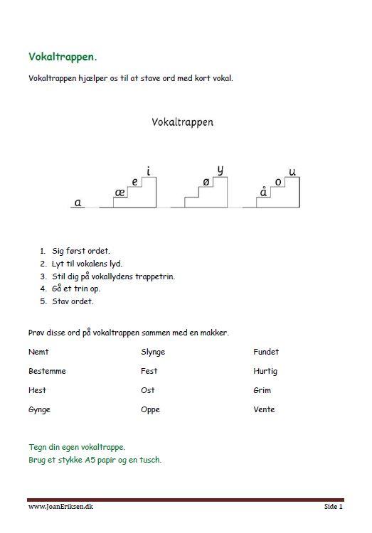 vokaltrappenopgave