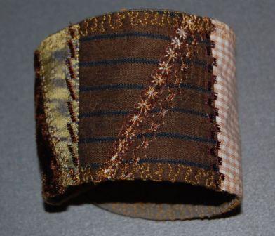 Armbånd med crazy patchwork