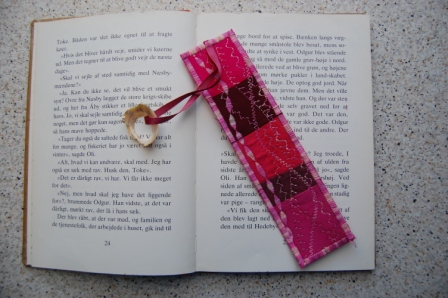 Bogmærker med Crazy patchwork