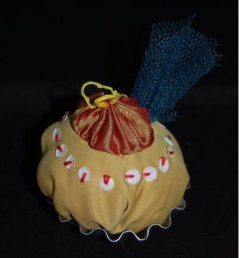 Smeltet sugerør på cupcake