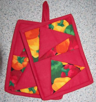 Crazy patchwork trekanter