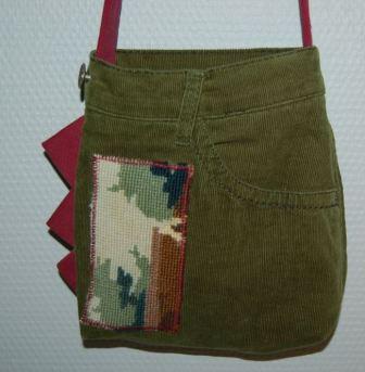 Taske af fløjlsbukser