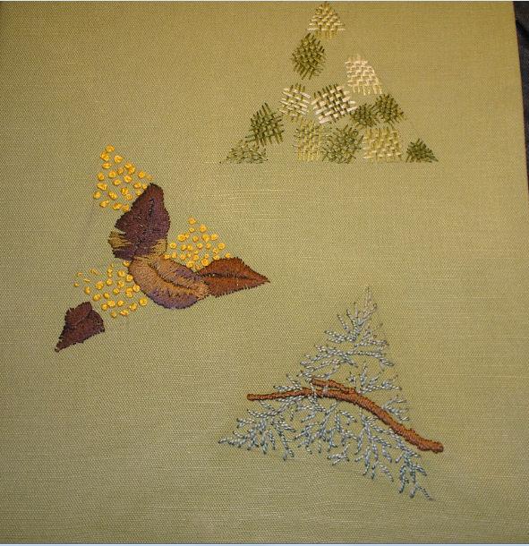 A4 mappe med broderede trekanter