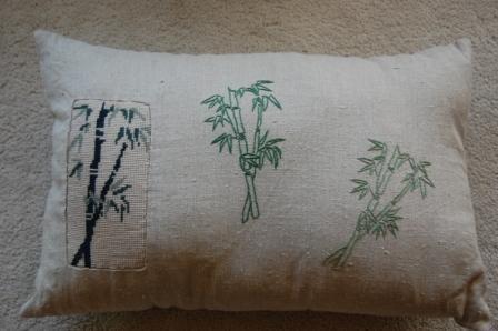Bambus stramaj og kontursting