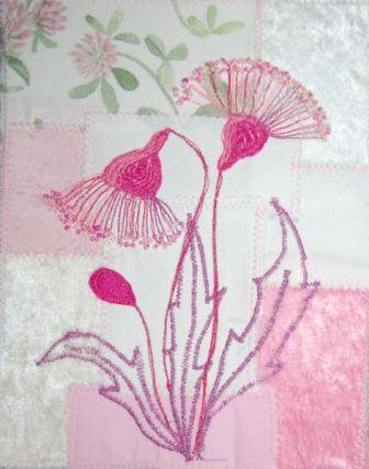 Pink blomst med perler