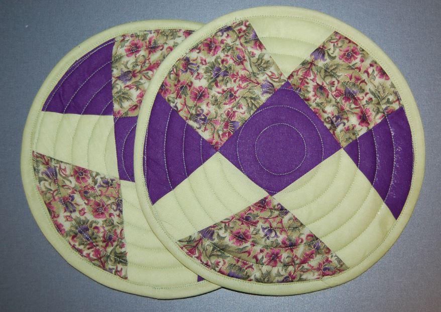 Crazy patchwork grydelapper