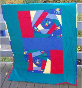 Tæppe med crazy patchwork