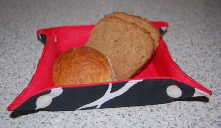 Lille firkantet brødkurv