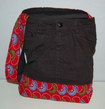 Nederdel med afrikansk stof