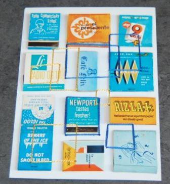 Sy firkanter på postkort