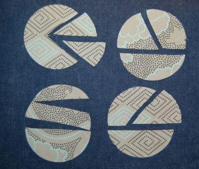cirkler klippet på forskellige måder