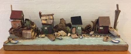 Fiskerby lavet af træklodser