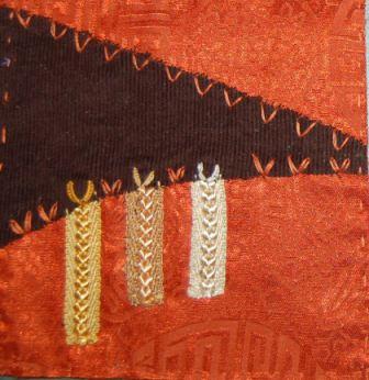 Orange og brun med Y-sting