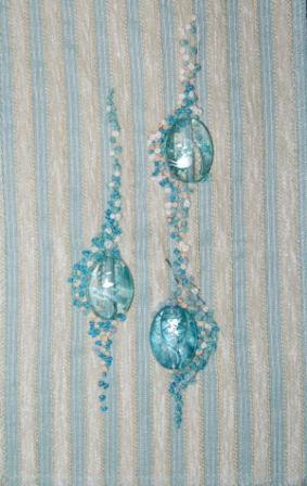 Perler med franske knuder